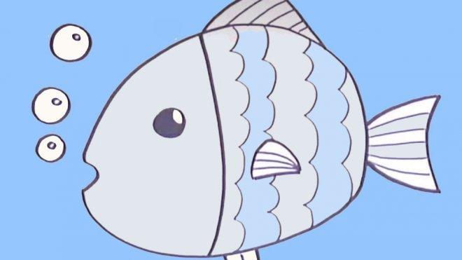 Dibujos para nios de peces Cmo dibujar un pez