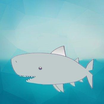 Cómo dibujar un tiburón. Dibujos infantiles de animales marinos
