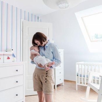 Los muebles en la habitación del bebé