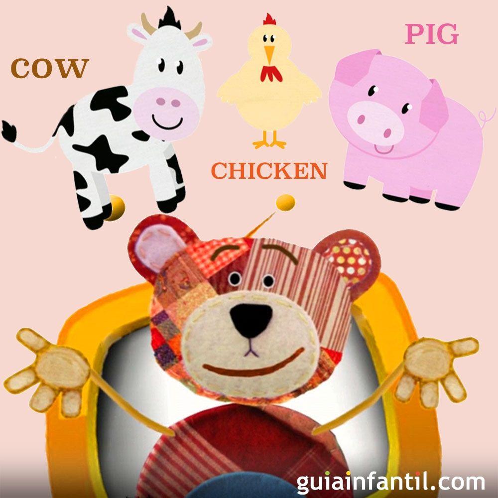El nombre de los animales de la granja en ingl s para ni os - Dibujos pared infantil ...