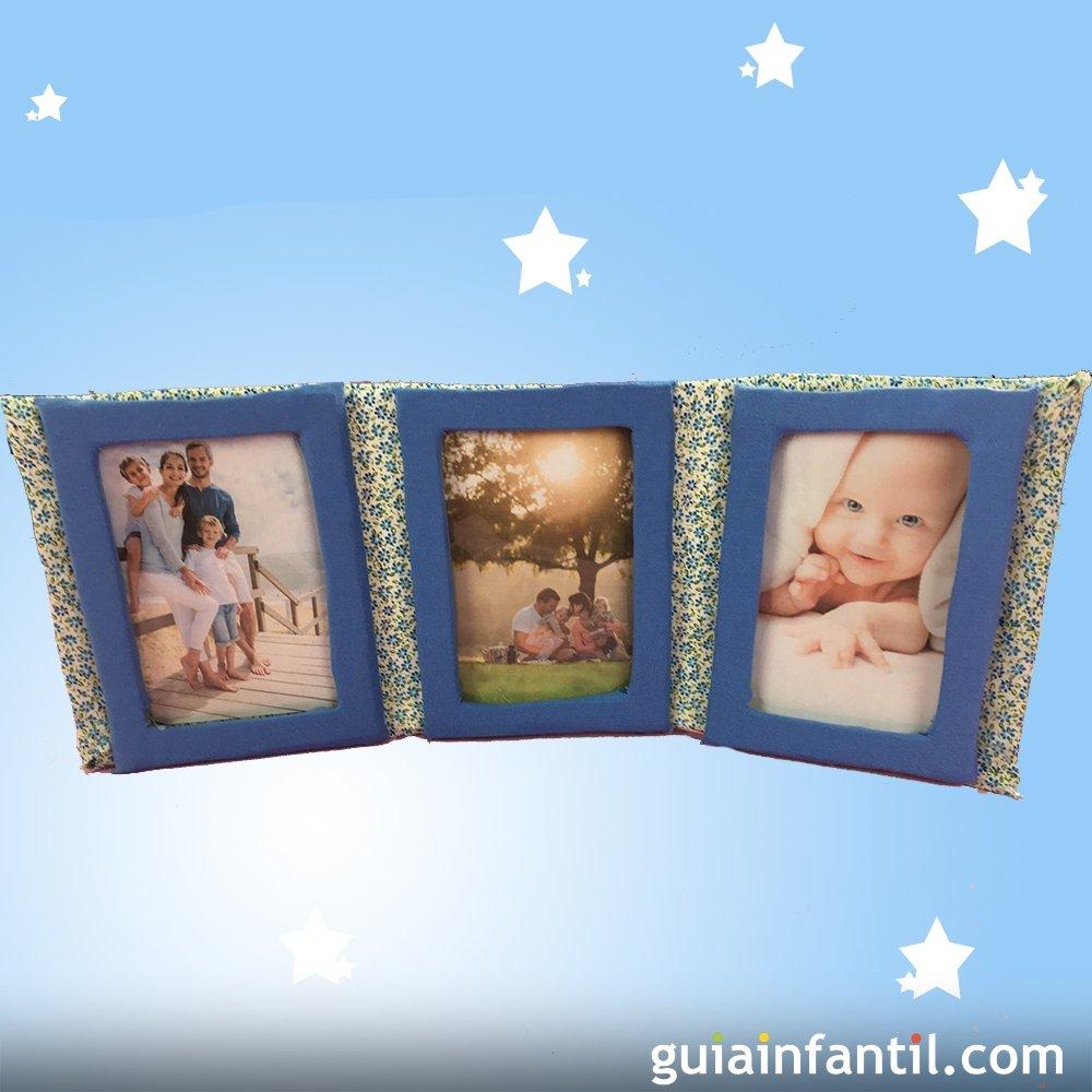 C mo hacer un marco de fotos casero con tela y cart n - Como hacer un marco de fotos original ...