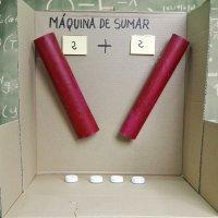 Máquina de sumar. Manualidad de reciclaje para niños