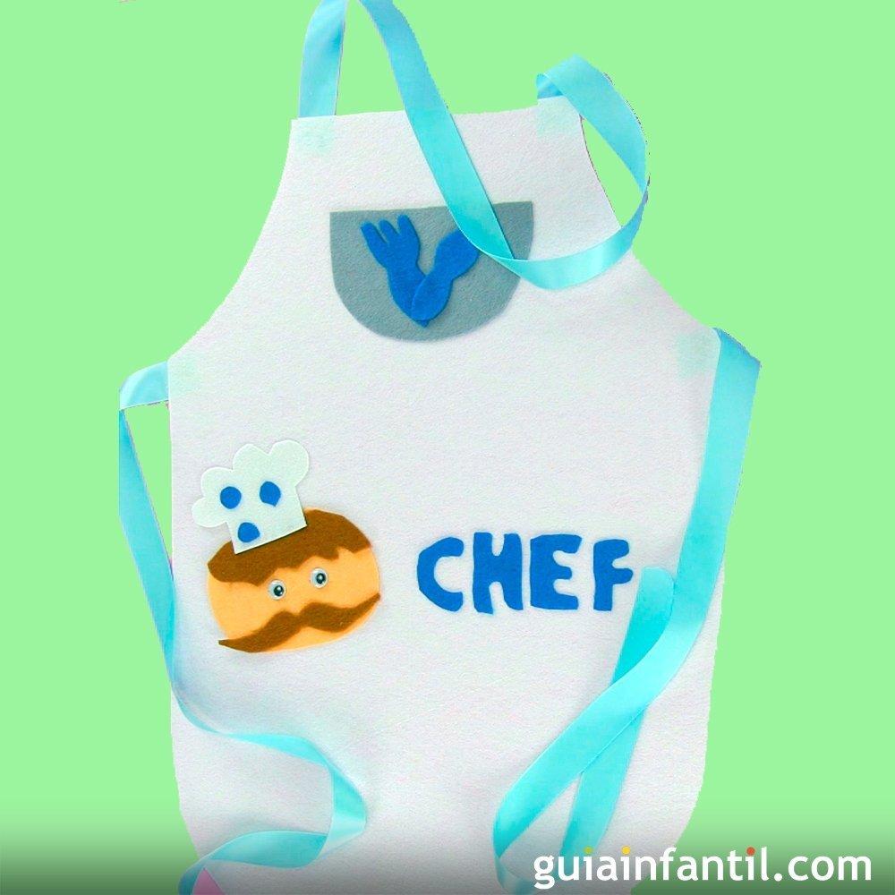 C mo hacer un delantal de cocinero para un disfraz infantil for Material para chef