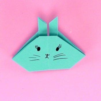Conejo de Pascua en origami