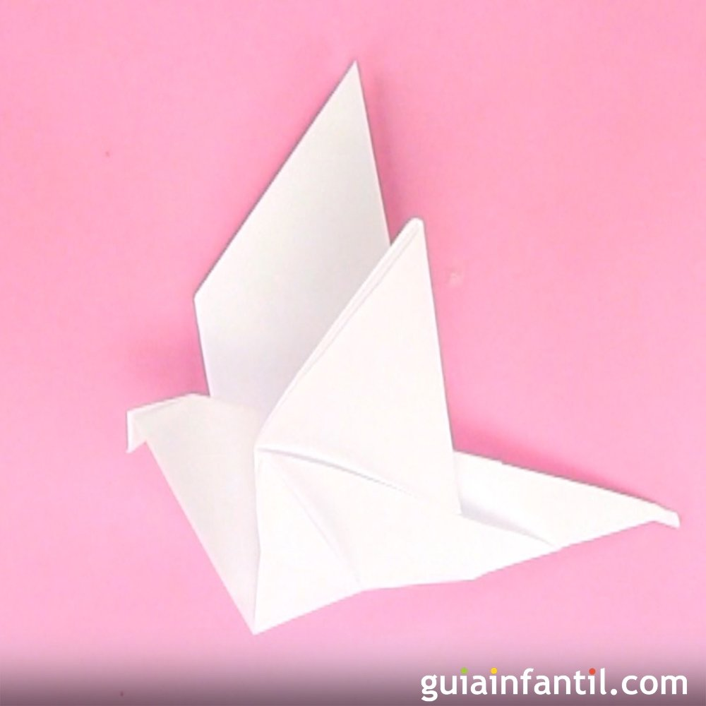 Cmo hacer una paloma de papel manualidades de origami altavistaventures Image collections
