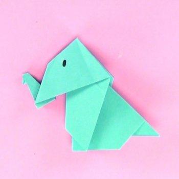 Elefante de origami