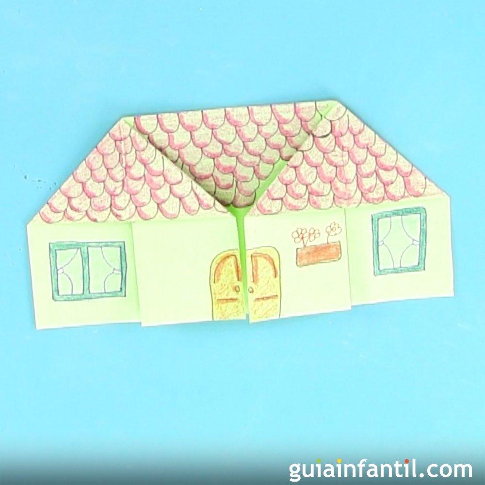 C mo hacer una casa de origami for Como hacer piscicultura en casa