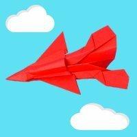 Cómo hacer un avión militar de papel. Papiroflexia para niños