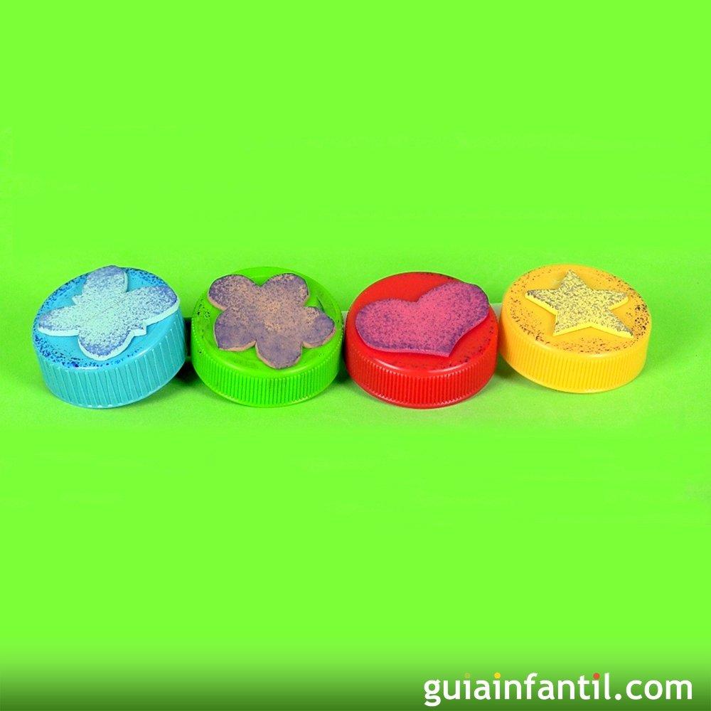 C mo hacer sellos y tampones caseros con formas for Como hacer sellos