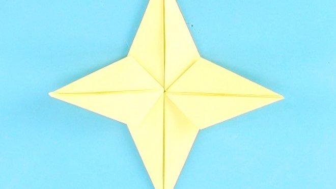 Estrella De Papel Origami Fácil Para Niños