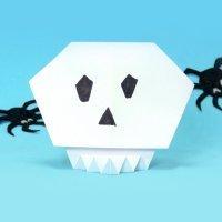 Cómo hacer una calavera de origami para Halloween