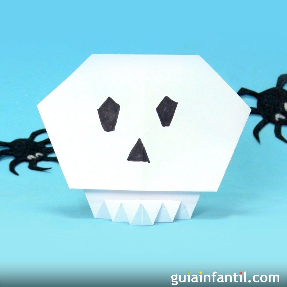 c mo hacer una calavera de origami para halloween