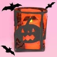 Cómo hacer un portavelas para Halloween