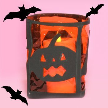 Porta-velas para halloween