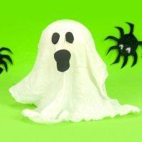 Cómo hacer un fantasma para Halloween con material reciclado