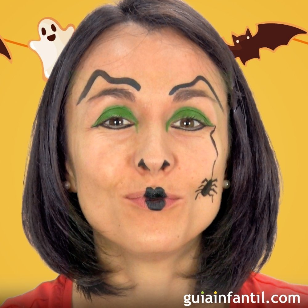 La Bruja Fabulas Cortas Para Ninos - Maquillaje-infantil-de-bruja