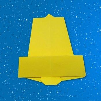 Campanas de Navidad de origami