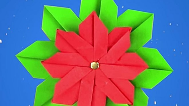 Cómo Hacer Una Flor De Pascua De Origami Para Navidad