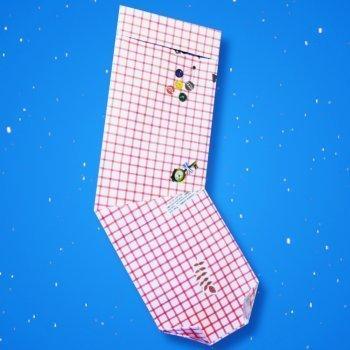 Cmo hacer un calcetn de Navidad de origami