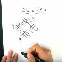 Truco japonés para multiplicar. Matemáticas divertidas para niños