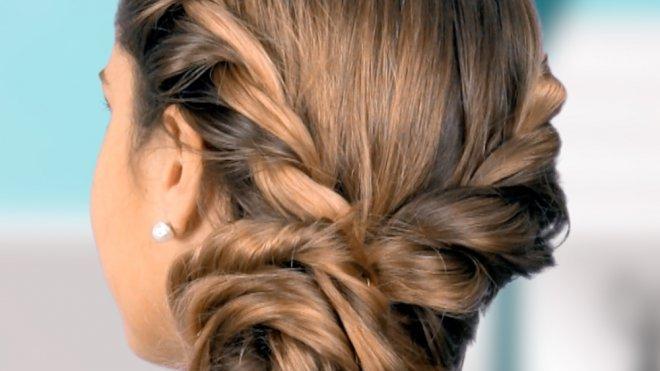 Recogido De Frozen Para Las Ninas Peinados Infantiles