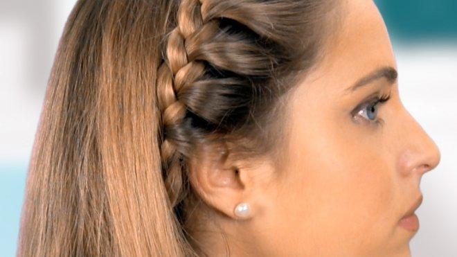 Trenza De Diadema Para Ninas Peinados Infantiles - Peinados-con-trenzaa