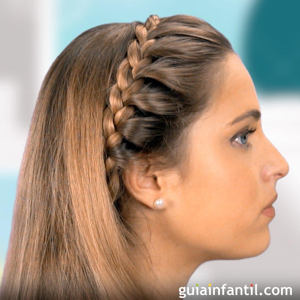 trenza de diadema para nias peinados infantiles - Peinados De Trenzas