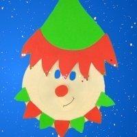 Cómo hacer una máscara de elfo de Papá Noel para Navidad
