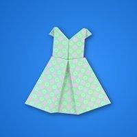 Cómo hacer un vestido de papel con la técnica del origami
