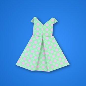 Vestido de origami