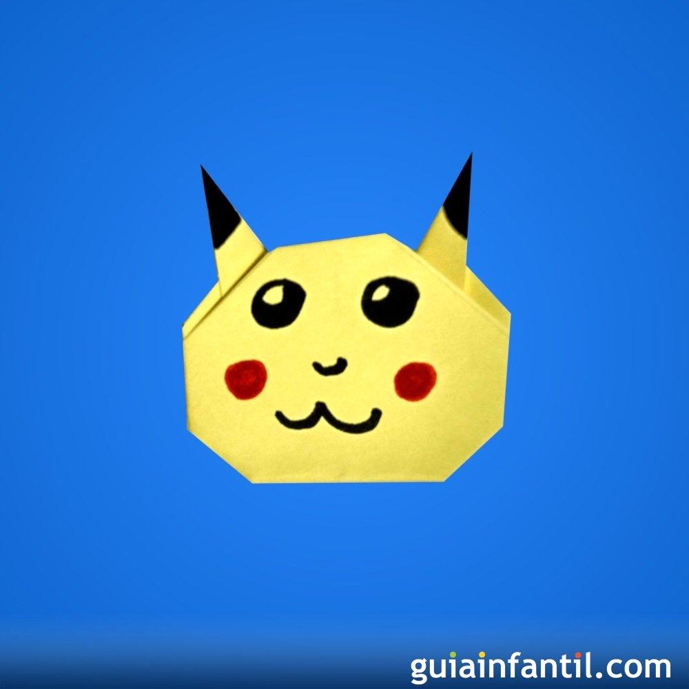 C mo hacer a pikachu en papel origami f cil para ni os for Para desarrollar un parque ajardinado