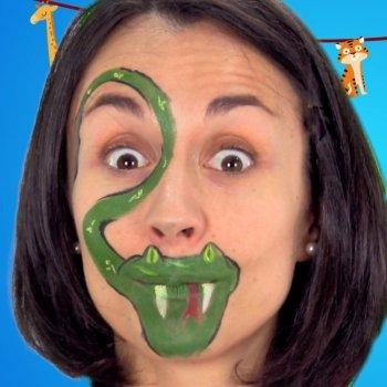 Cómo hacer un maquillaje de serpiente para un disfraz infantil
