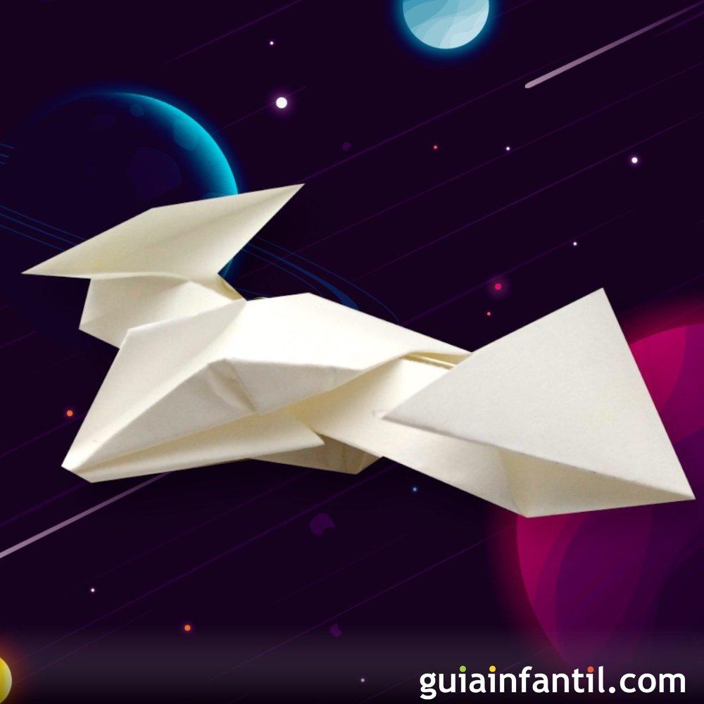 Cómo Hacer Una Nave Espacial De Origami Con Papel