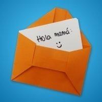 Sobre para cartas de origami. Manualidades para niños