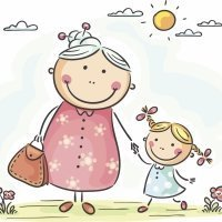 Poesía dedicada a los abuelos con ilustraciones