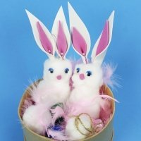 Cómo hacer un esponjoso conejito de Pascua con algodón