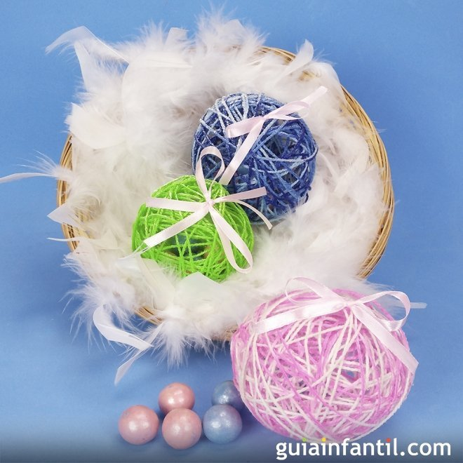 Huevos De Pascua Con Sorpresa Manualidades Infantiles Con Lana