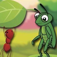 La cigarra y la hormiga. Fábula para niños con valores