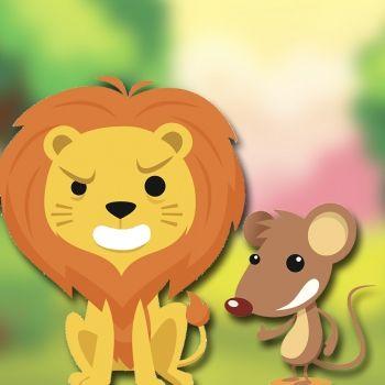 El león y el ratón. Fábula con valores para niños