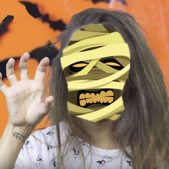 Peinado de zombi para Halloween. Peinados divertidos para niñas
