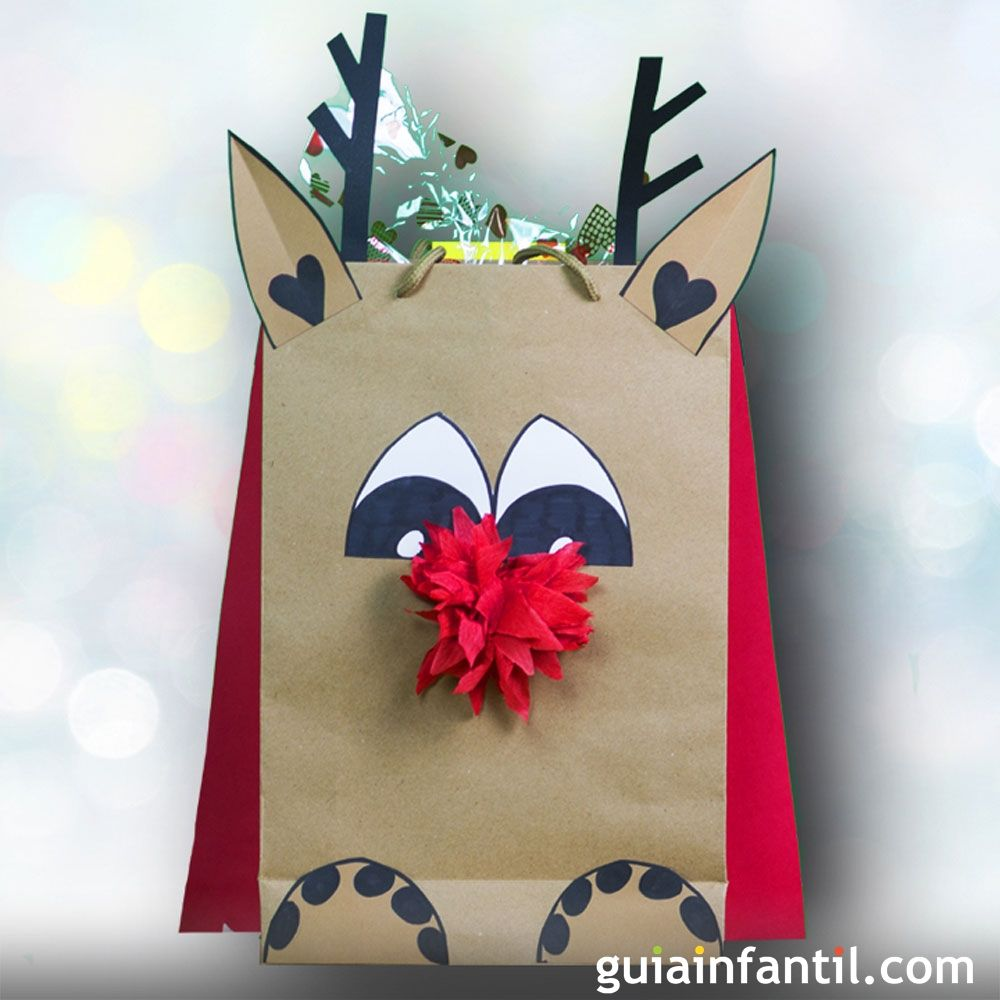 Manualidades Navidenas Para Ninos De Tres Anos.Bolsa Decorada Para Navidad Manualidades De Reciclaje Para Ninos