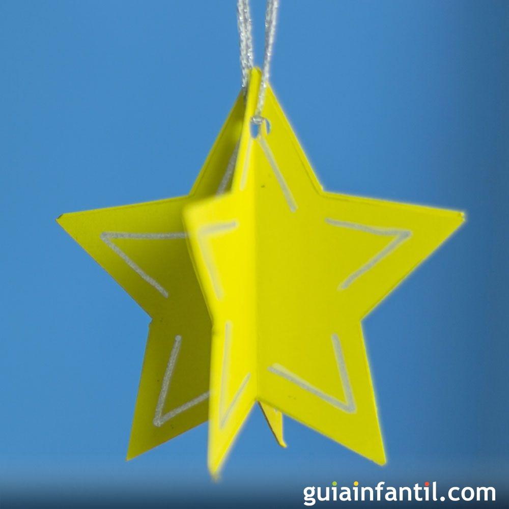 Estrella Para Decorar El Arbol De Navidad Manualidades Infantiles