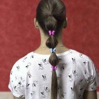 Coleta burbuja para niñas. Peinados infantiles