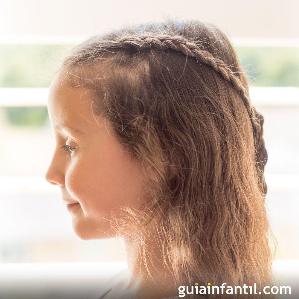 Trenzas Con Lazo Peinados Sencillos Para Ninas - Peinados-para-nias-sencillos
