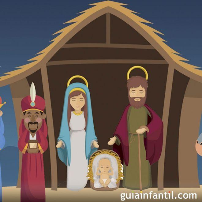 El nacimiento del niño Jesús. Cuento ilustrado de Navidad