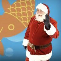 Los peces en el río con Papá Noel. Canción de Navidad para niños