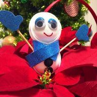 Muñeco de nieve para decorar. Manualidades navideñas para niños