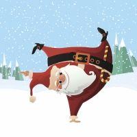 Villancicos bailados por Papá Noel para Navidad