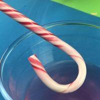 El bastón de caramelo que pierde los colores. Experimento para niños