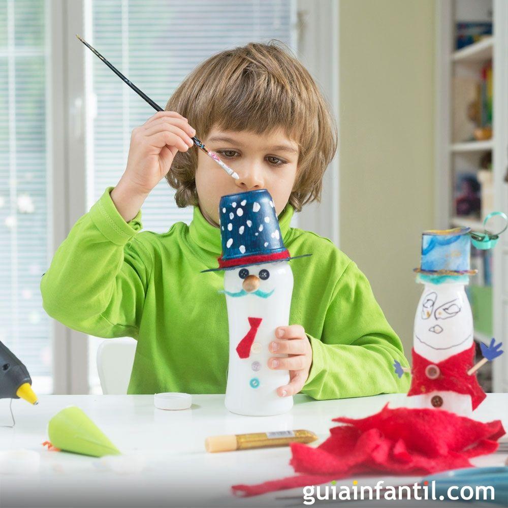 Niños Con Para Manualidades Reciclaje Materiales De f7y6bg